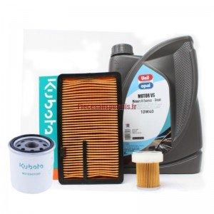 Kit entretien Kubota origine avec huile 10W40 (après 2003)