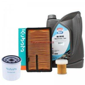 Kit entretien kubota origine avec huile 5W40 (après 2003)