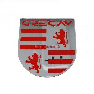 Logo autocollant Sonique chromé pour Grecav