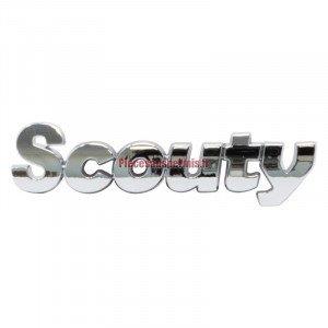 Logo de hayon Aixam Scouty chromé